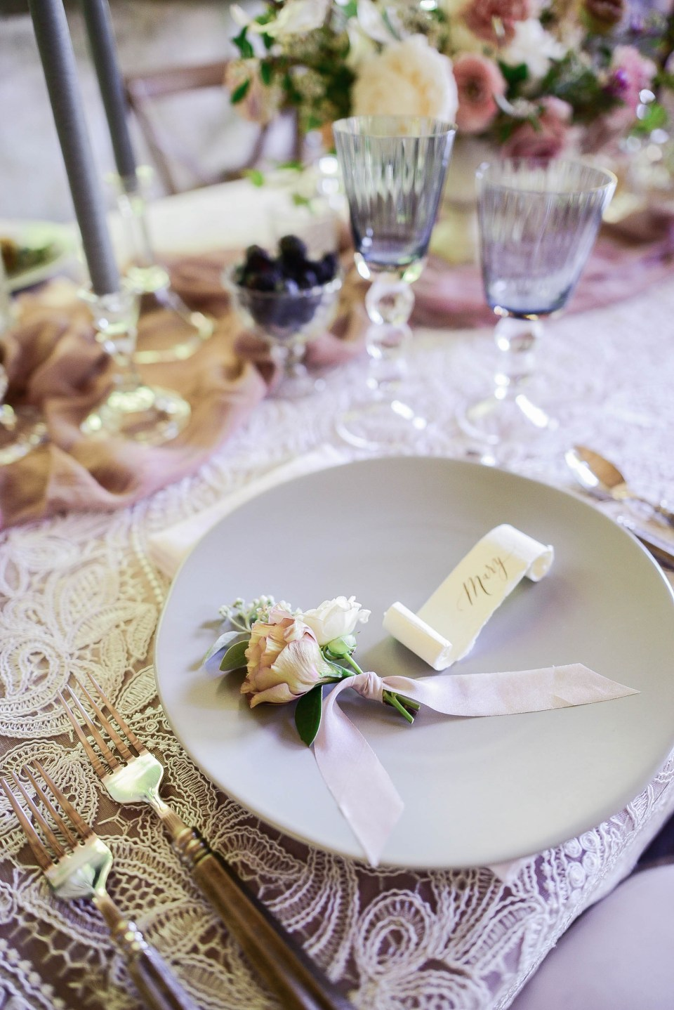 Wedding Place Setting Details
