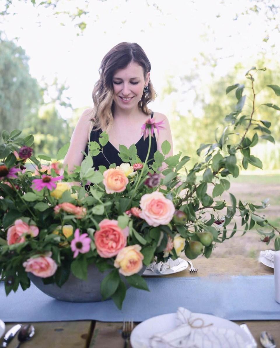 Large Centrepiece Arrangement with garden roses