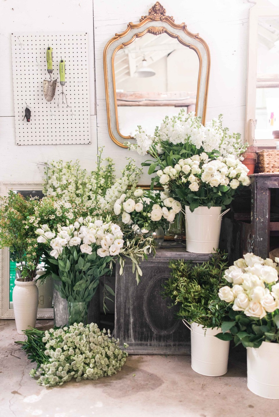 Beautiful Flowers - White and Green Wedding Flowers