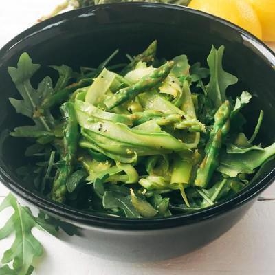 Shaved Asparagus Salad with Lemon Dijon Vinaigrette
