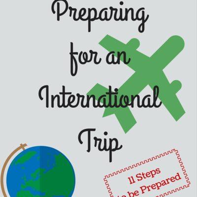 Preparing for an International Trip