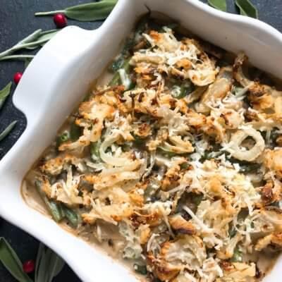 Parmesan Garlic Green Bean Casserole