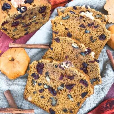 Cranberry Walnut Pumpkin Spice Bread