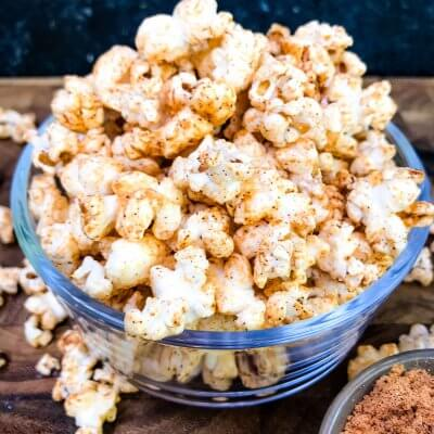 Homemade Chipotle Cheddar Popcorn