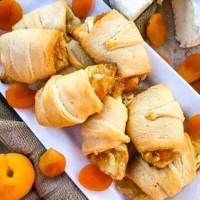 Apricot Brie Crescent Rolls
