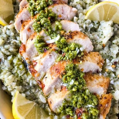Chicken Pesto Risotto