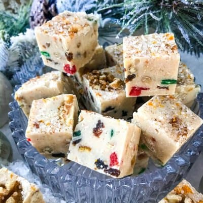 Spiced Christmas Fruitcake Fudge
