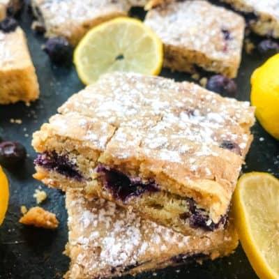 Lemon Blueberry Blondie Recipe