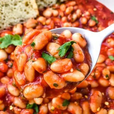 Arrabbiata Beans (Spicy Italian Beans)