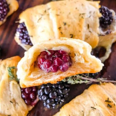 Blackberry Brie Crescent Rolls