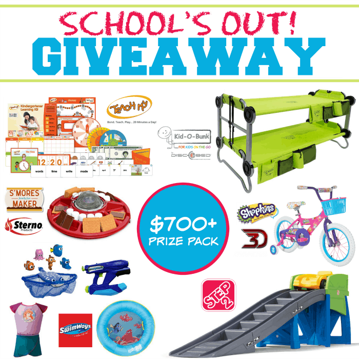 School's Out HUGE Summer Giveaway Event