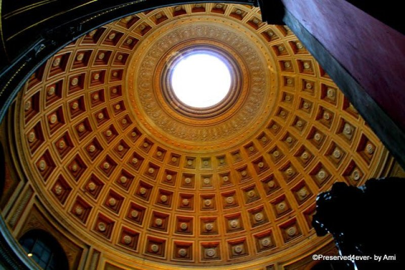 The main ceiling in the Round room, Vatican Museum