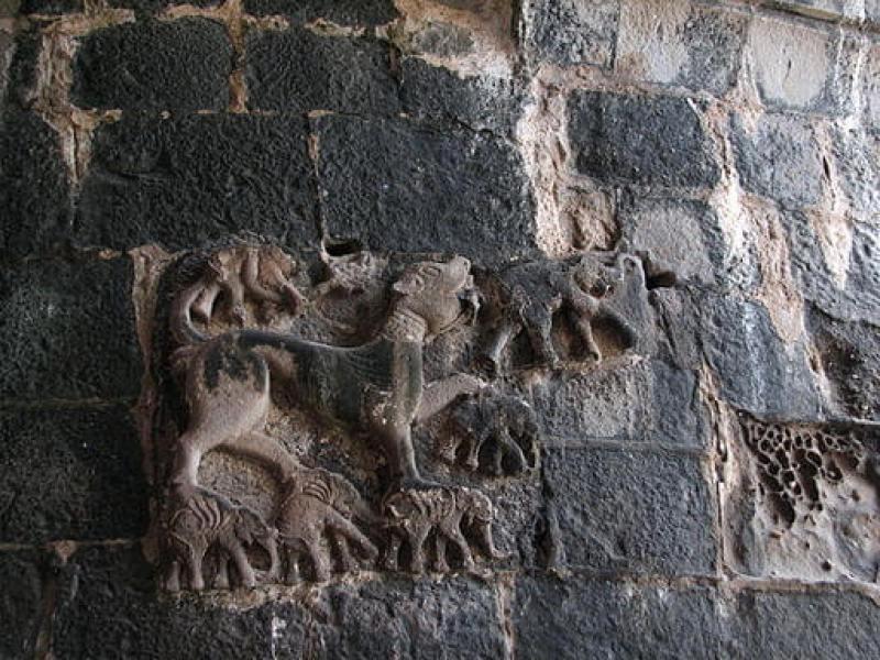 Carving at the Entrance Image Credits: Damitr