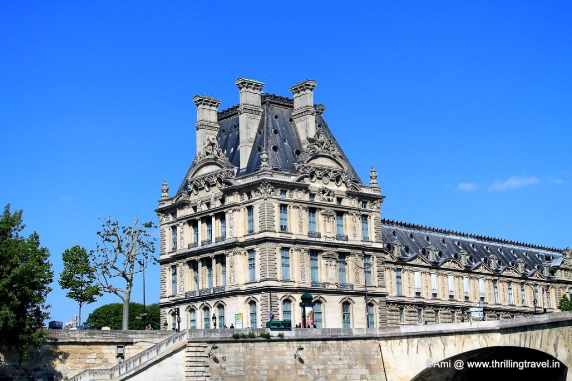 The Louvre from the River Seine, Paris