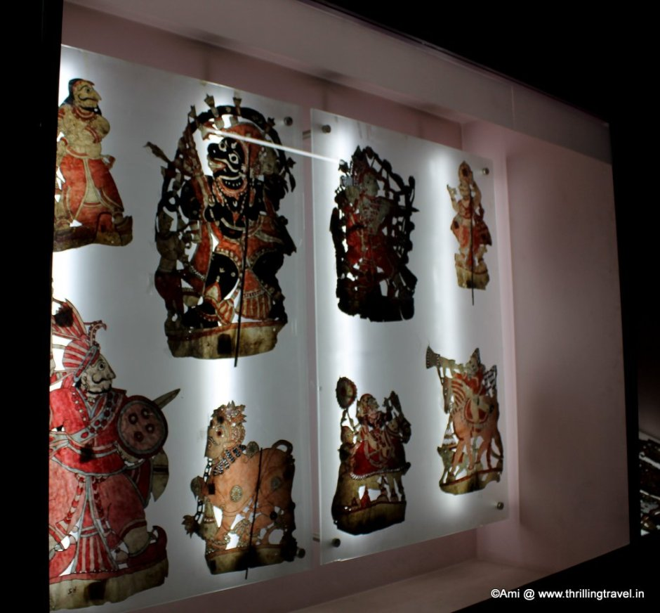 Leather Puppets from South India at Kelkar Museum