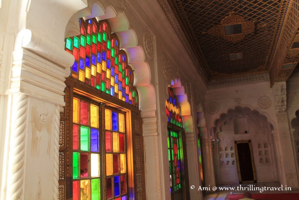 Stained glass of Moti Mahal at Mehrangarh Fort