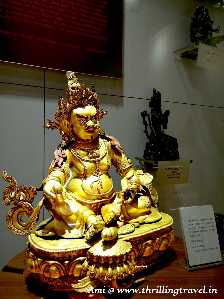 Tibetan Gilted statue of Buddha, called as Jambala, seized by the Gorakhpur customs
