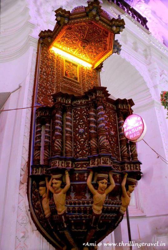 Pulpit at Santana Church, Goa