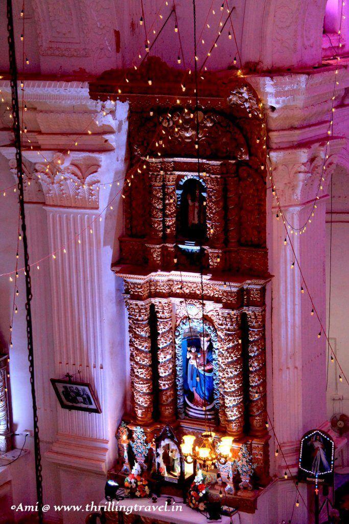 Along the walls of Santana Church, Goa