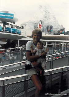 Me as a little girl in front of Disneyland's Matterhorn