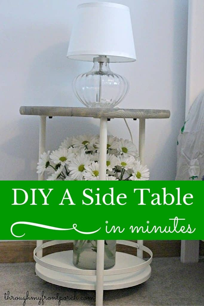 DIY An Ugly Side Table To Awesome In Minutes