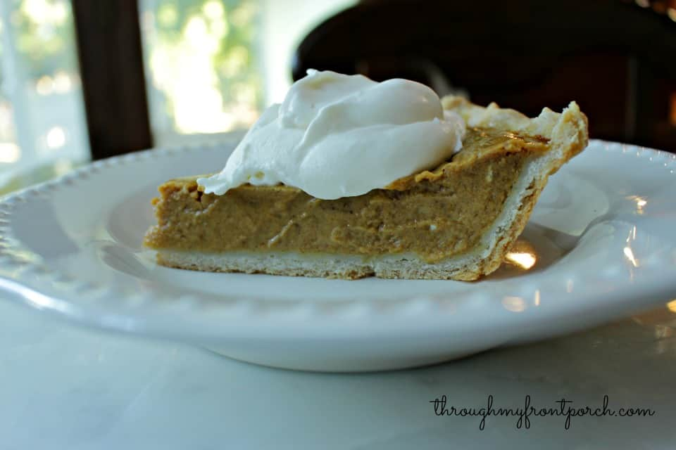 The Making Of A Pumpkin Pie With Simple Ingredients