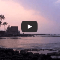 """""""Hawaii Sunset Video:  Watching the Sunset at the City of Refuge in Hawaii"""""""
