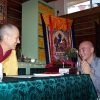Venerable Jampel requesting precepts from Venerable Chodron.