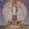 Picture of Avalokiteshvara, made up of mosaic of people's face