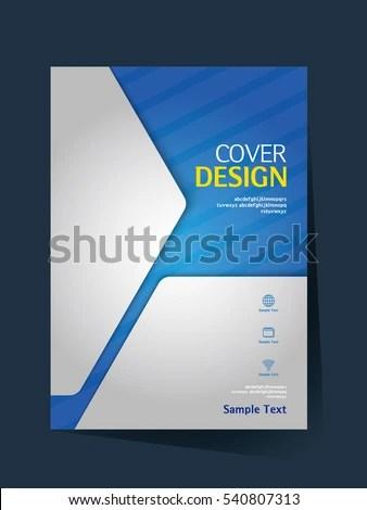 Brochure Design Vector Template A 4 Size Stock Vector  Royalty Free     Brochure design vector template in A4 size  Annual report  Abstract book  cover  Simple