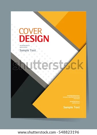 Book Cover Design Vector Template A 4 Stock Vector  Royalty Free     book cover design vector template in A4 size  Annual report  Abstract Brochure  design
