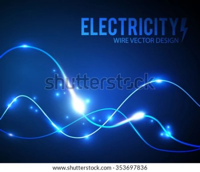 Abstract Futuristic Background Electric Wire Design Stock Vector 353697836 - Shutterstock