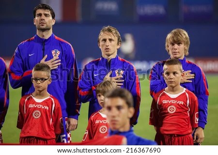 ZAGREB CROATIA SEPTEMBER 9 2014 UEFA Stock Photo  Edit Now     ZAGREB  CROATIA   SEPTEMBER 9  2014  UEFA European Championship 2016  qualifiers in Group