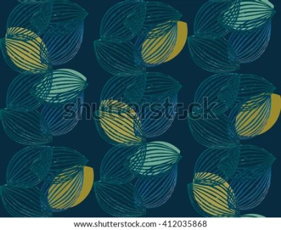 Vector Abstract Botanical Black White Pattern Stock Vector 352695650 - Shutterstock