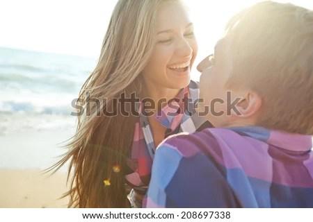 couple in love - stock photo