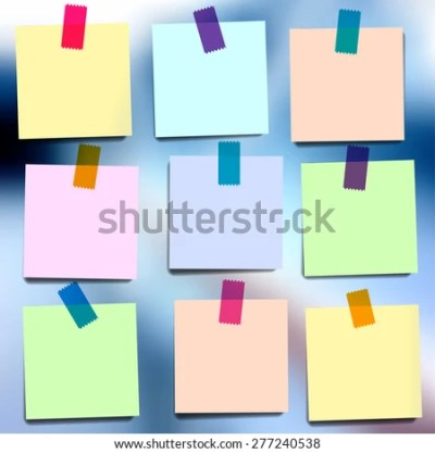 Sticky Notes Wallpapers On Blurred Vector Stock Vector 277240538 - Shutterstock