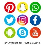 Networking Social Media Icons Free Stock Photo - Public Domain Pictures