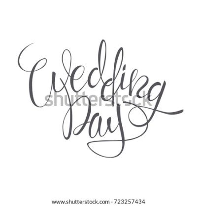 Immagine vettoriale a tema Wedding Day Vector Lettering ...