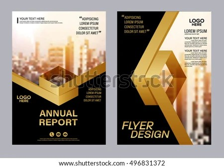 Gold Brochure Layout Design Template Annual Stock Vector  Royalty     Gold Brochure Layout design template  Annual Report business Leaflet cover  Presentation Modern background  illustration