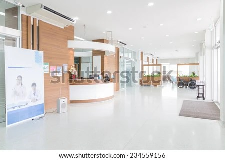 nakhonratchasima thailand november 15 2014 interior of new empty in a modern doctors office o
