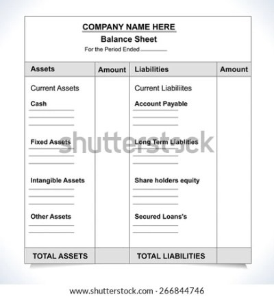 Balance Sheet Stock Images, Royalty-Free Images & Vectors | Shutterstock