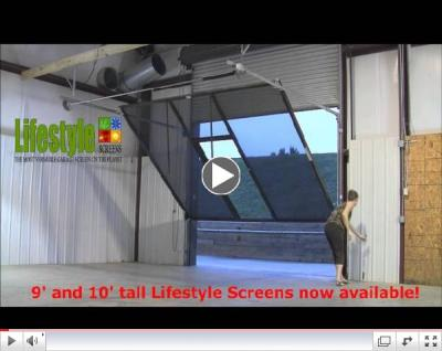 Lifestyle Screens Adds 9'H and 10'H Garage Door Screen