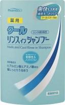 熊野油脂 ファーマアクト 薬用クール リンスインシャンプー 詰替 350ml ( 4513574020290 )