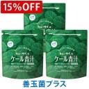【15%OFF】キューサイ ケール青汁 善玉菌プラス 粉末タイプ(1袋420g入 約30日分)3袋まとめ買い