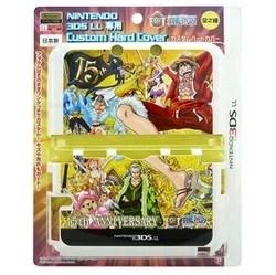 【新品】3DSLL用 ワンピース 15th ANNIVERSARY カスタムハードカバー ゴールド【RCP】