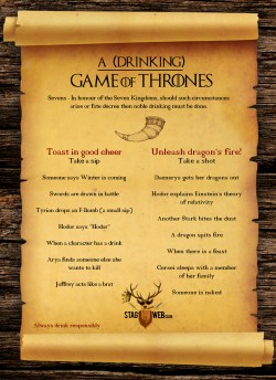 Small Of Game Of Thrones Drinking Game
