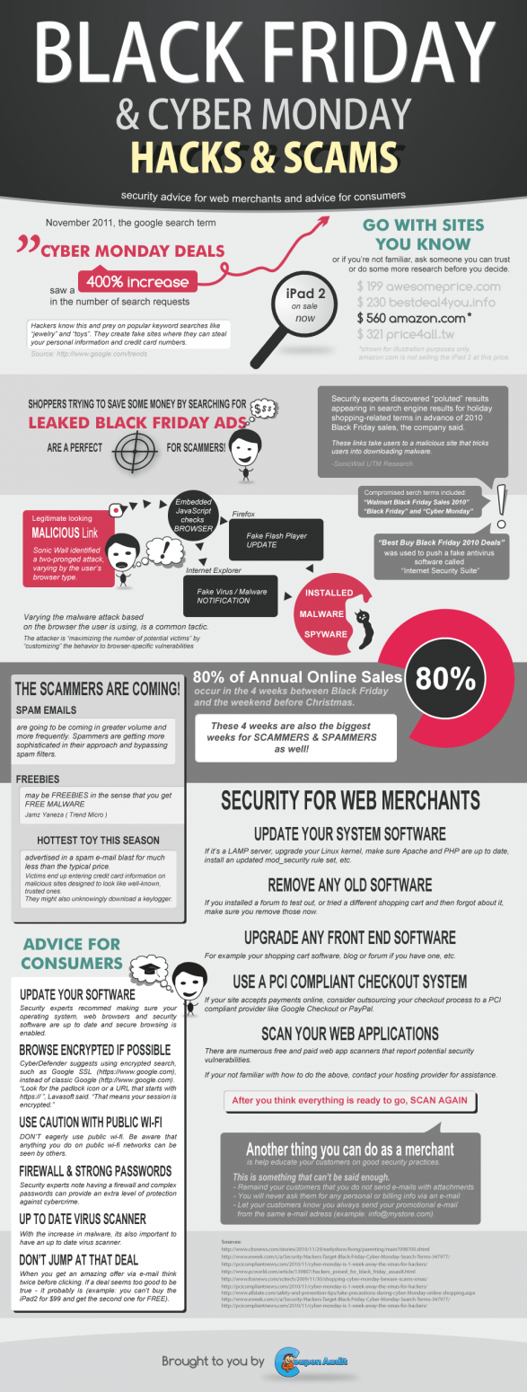 Cyber Monday Scam Infographic