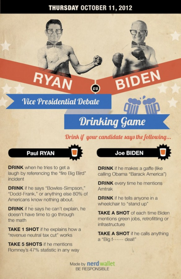 NerdWallet�s Vice Presidential Debate Drinking Game