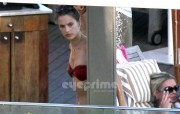 fca633130479301 Alessandra Ambrosio in a Bikini by the Hotel Pool in Rio, May 1
