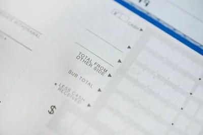 Bank Deposit Form stock photo. Image of banker, america - 35501158
